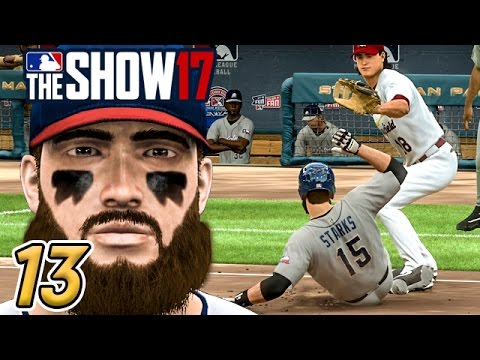 TESTING STARKS' SPEED - MLB The Show 17 Road to the Show Ep.13