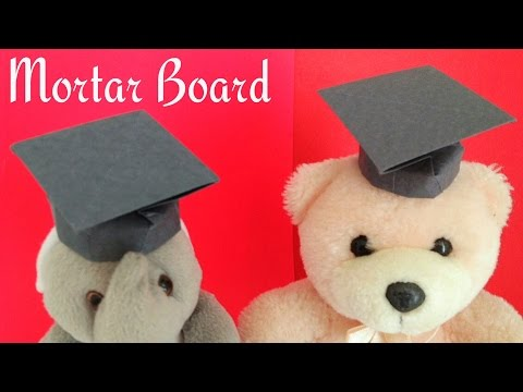 Origami Paper - Mortar Board / Graduation Cap (Teacher's Day Special)