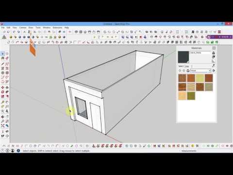 Hướng Dẫn Vẽ 3d Trên Máy Tính Vẽ Cửa Sổ Bằng Sketchup, How To Draw A 3d Window In Sketchup