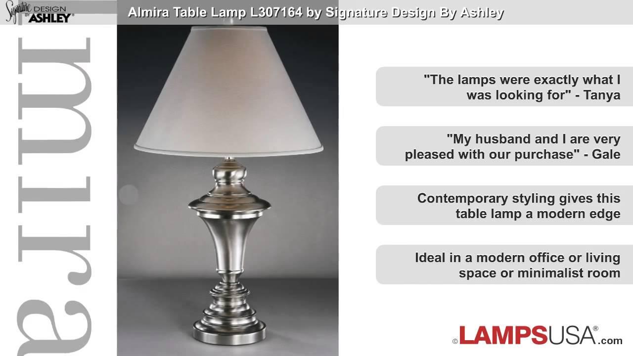 Ashley almira table lamp steel l307164 youtube ashley almira table lamp steel l307164 lampsusa aloadofball Gallery