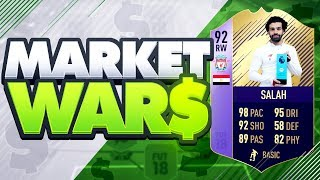 FIFA 18 MARKET WARS!!! PLAYER OF THE MONTH SALAH (POTM Mo Salah) Vs OakelFish