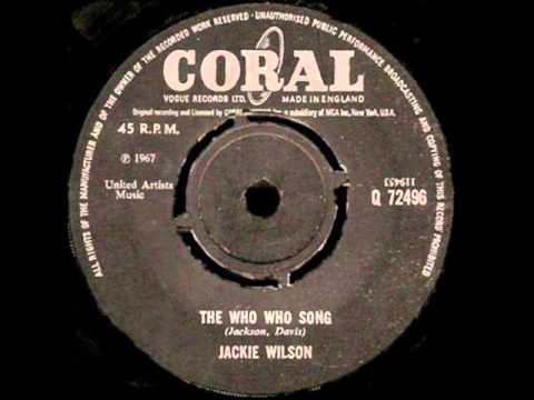 "Jackie Wilson - ""The Who Who Song"" - (1967) - Coral Records"