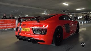 These Audi R8 V10 Plus are LOUD! Custom Exhaust Systems!