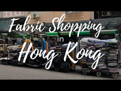 A TYPICAL FABRIC SHOP IN HONG KONG- MINI VLOG