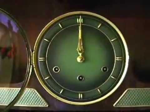 Karl Lauffer Art Deco Westminster Chime Mantel Clock