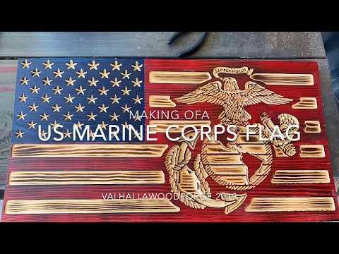 Making A Custom USMC Flag