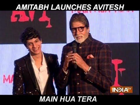 Amitabh Bachchan launches Aadesh Shrivastava's son Avitesh's new single Main Hua Tera