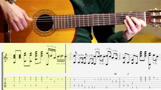 Hit the Road Jack. Fingerstyle guitar. Notes. Tabs. Lesson.