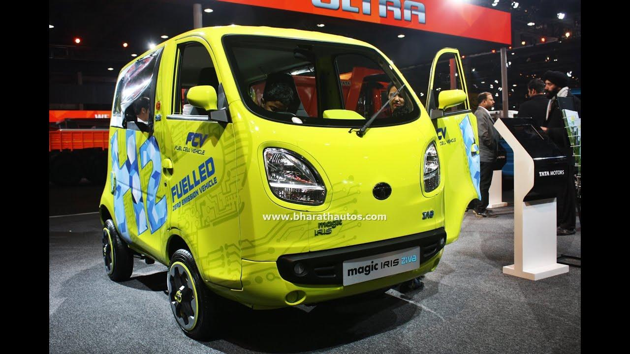 Tata Motors Magic Iris Ziva Fcv Zero Emission Vehicle At 2016 Auto