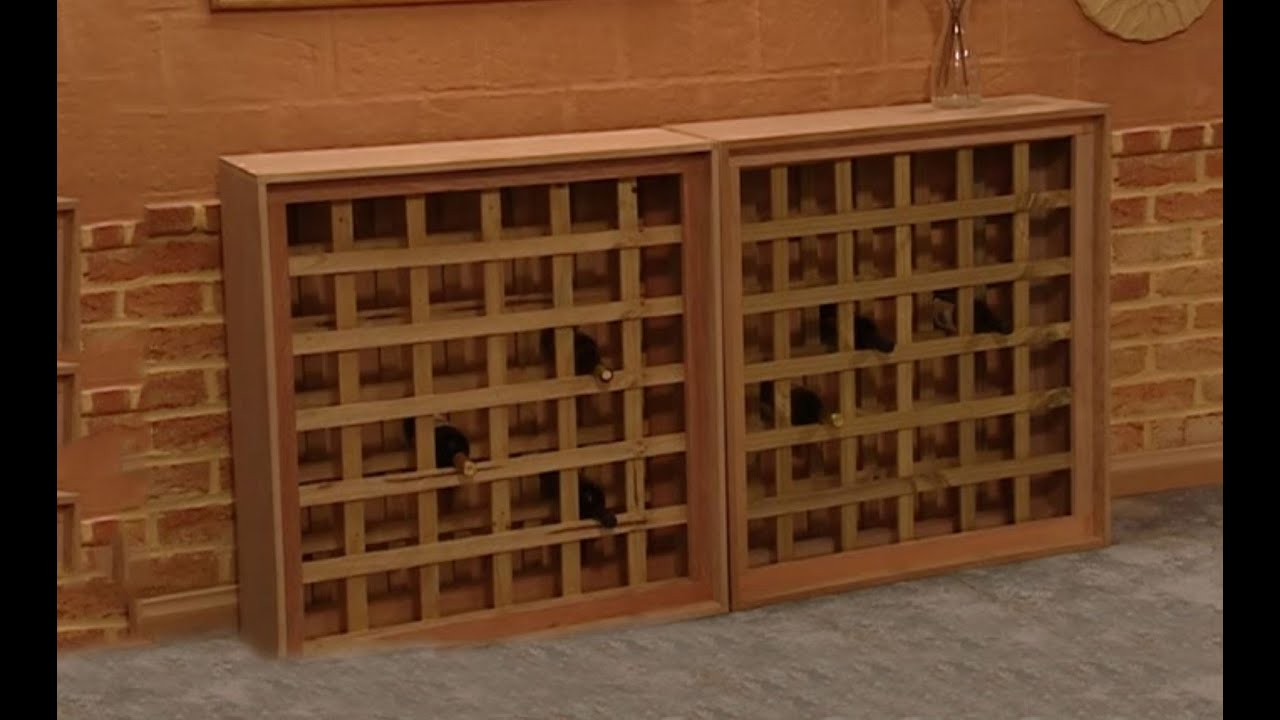 How to Build a Wine Rack - YouTube