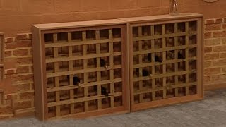 We are going to make this magnificent wine rack from some lattice using some simple hand tools in about an hour. http://