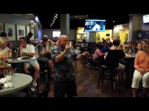 Marriott's Ocean Club 2016- Champion Restaurant- Aruba-Deano Sings Luck Be a Lady.