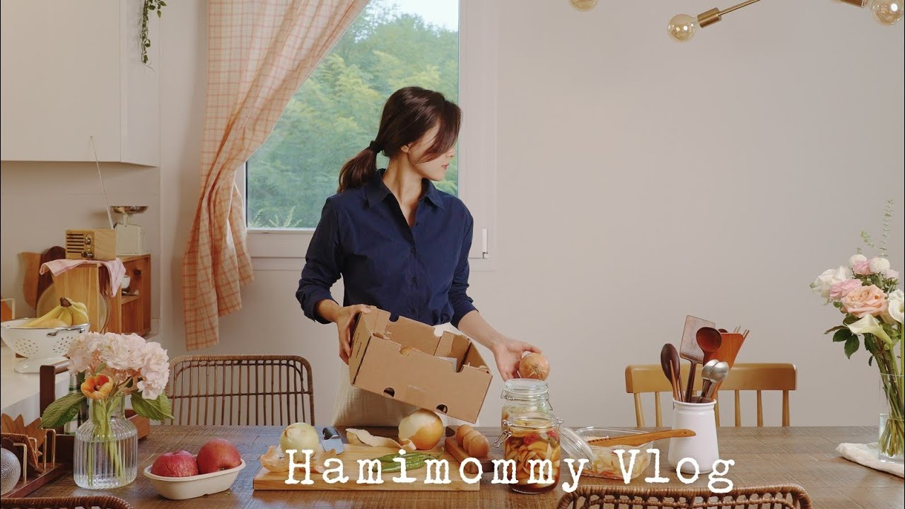 Download SUB) 부지런한 주부의 아침 일상ㅣ나무식기 관리, 행주 세척ㅣ육전김밥, 양파장아찌, 감자전ㅣMorning Routine VLOG 🧺