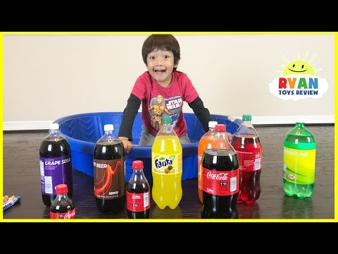 Learn Colors with Coca Cola and Fanta for Children Toddlers and Babies!  Kids Learns Colours Video