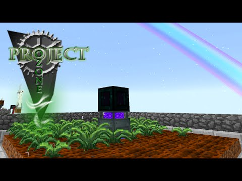 Minecraft Mods Project Ozone - FARMING STATION [E13] (Modded HQM Sky Block)