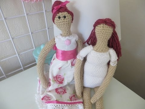 How to crochet country doll /Tilda doll (body) - YouTube | 360x480