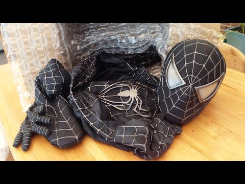 UNBOXING Black SpiderMan Costume  Symbiote Movie Suit