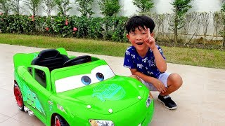 Learn Colors with Mcqueen Car Toy Video for Kids Power Wheels Change Color play