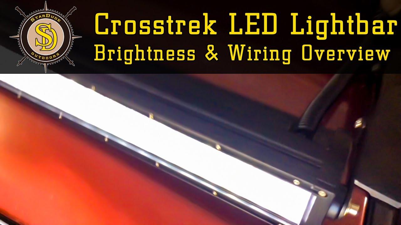 maxresdefault subaru crosstrek quick led lightbar brightness test & wiring Wiring 12V LED Lights at reclaimingppi.co