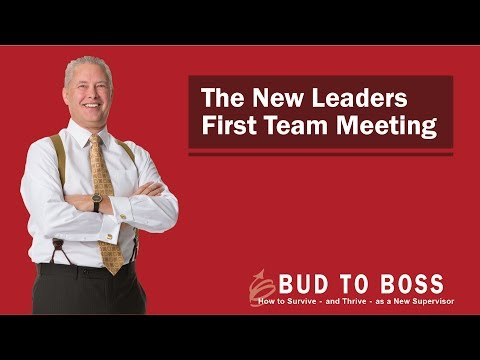 The New Leader's First Team Meeting