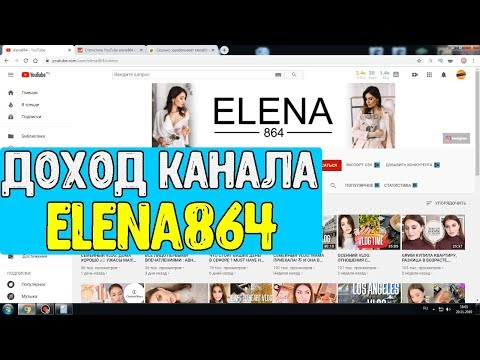 Доход канала ELENA864 на Youtube