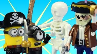 Playmobil Pirate Cave Building Toy Build Review Minions