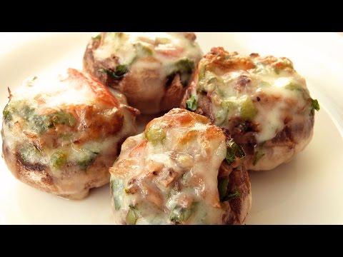 Рецепт фаршированных грибов - Грибы, фаршированные сыром