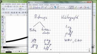 18 Inkscape, Teil 1, Vektorgrafik versus Bitmaps, SVG, PDF, WMF, JPG, PNG, BMP, Seitenformat