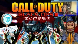 ZOMBIES en SPACE STATION!!! BLACK OPS 3 CUSTOM MAP!!!