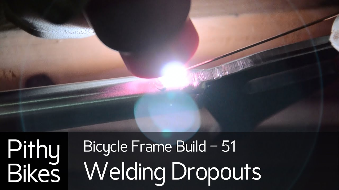 Bicycle Frame Build 51 Tig Welding 4130 Chromoly Dropouts Youtube