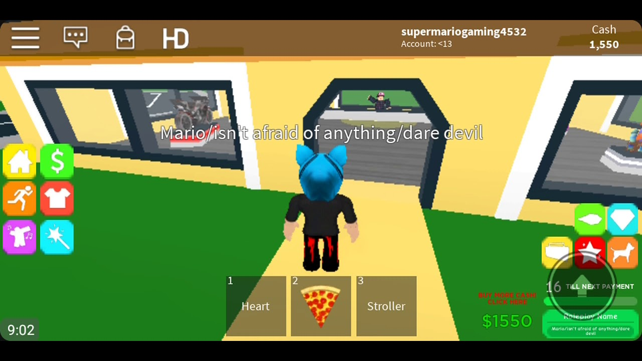 Playing Roblox Getting A Boombox In Family Paradise Youtube