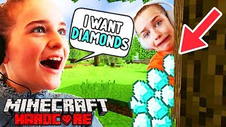 FINDING SOCKIE FOR DIAMONDS IN MINECRAFT HARDCORE Gaming w/ The Norris Nuts