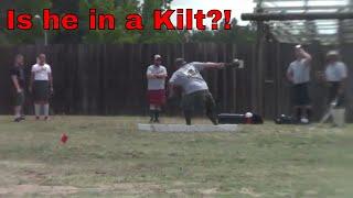 What's he got under his kilt?!