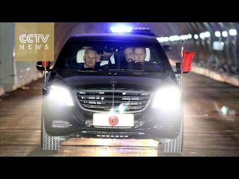 Erdogan first to drive through Istanbul's Eurasia Tunnel
