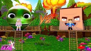 Minecraft Little Leah Plays - DAME TU CASITA TREE HOUSE VS HELLO NEIGHBOR TREE HOUSE!!!