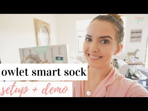 Owlet Baby Monitor Setup + Demo + Review 👶🏼✨ | Owlet Smart Sock 2 2018
