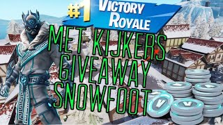 FORTNITE SNOWFOOT / MET KIJKERS / '10 GIVEAWAY/NEDERLANDS