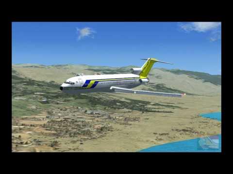 FSX 15. Sudan Airways Boeing 727-200 landing at Bujumbura International Airport (Burundi).