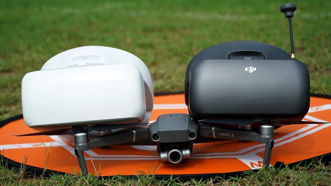 Flying Mavic 2 with DJI Goggles