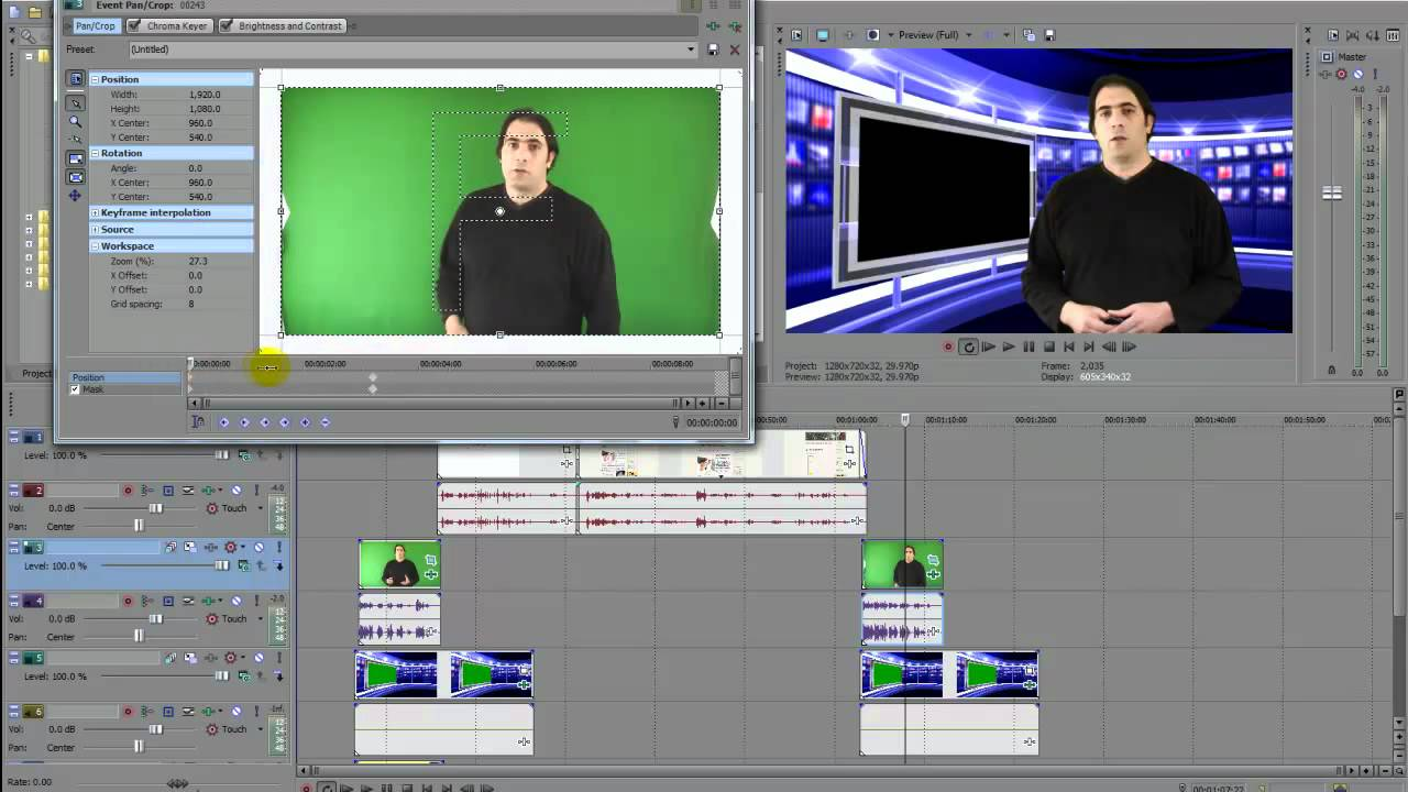 Trouble with chroma key sony vegas
