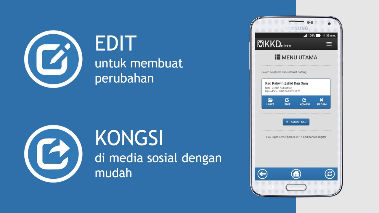 Kad Kahwin Digital Micro App Demo Youtube
