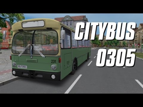 OMSI - Citybus O305 Addon: The Citybus O305 (or Stadtbus O305) is an OMSI addon created by Rolf Westphalen. It consists a fictional German map with five drivable routes called Neuendorf, and of course a high quality, highly detailed bus, a Mercedes-Benz O305.  ---------------------------- The O305:  The Mercedes-Benz O305 is a rear-engined bus that was built in West Germany between 1967 and 1987. The O305 was built as a successor of the O317 and was the Mercedes-Benz adaptation of the first so called