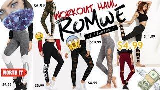 WORKOUT HAUL | $4.99 LEGGINGS! |  ROMWE | Worth it?