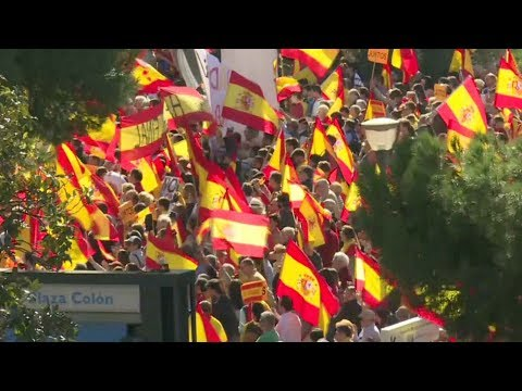 Thousands rally in Madrid in support for Spanish unity