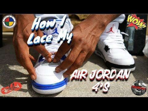 2dda634b329832 How I lace My Air Jordan 4s   On Feet - YouTube