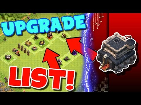 Clash Of Clans | TOWN HALL 9 UPGRADE PRIORITY LIST | WHAT TO UPGRADE FIRST! |