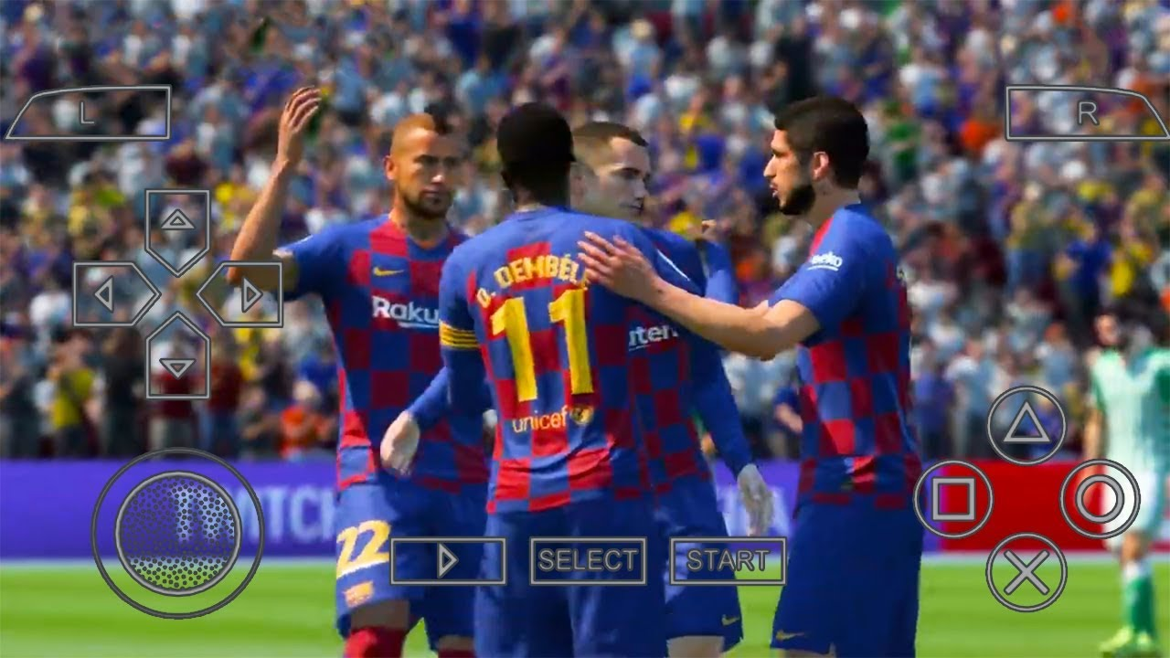 PES 2020 PPSSPP Camera PS4 500 MB Android New Update Grass & Transfers  19-20 Best HD Graphics