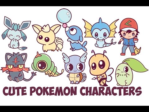 How To Draw Cute Pokemon Characters Chibi Kawaii Easy Step By Step