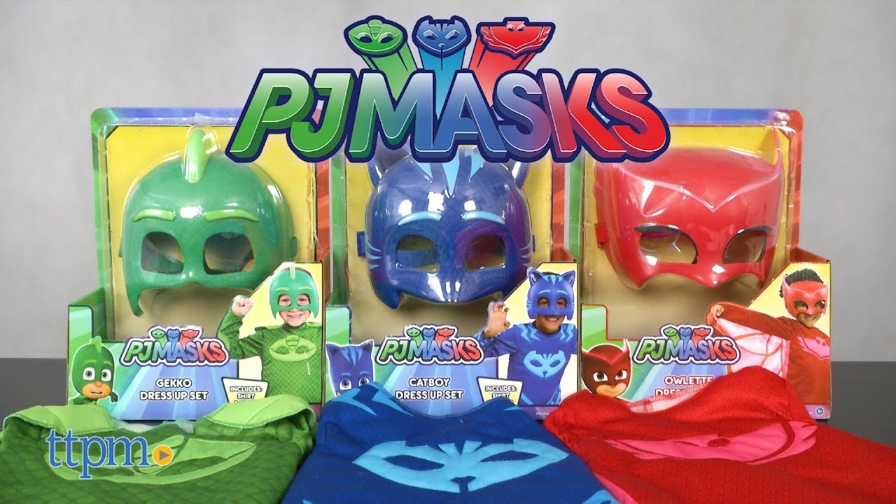 Gekko Mask And Tail Set Disneys Pj Masks Hand Painted Costume Topeng Owlette Catboy Dress Up From Just Play