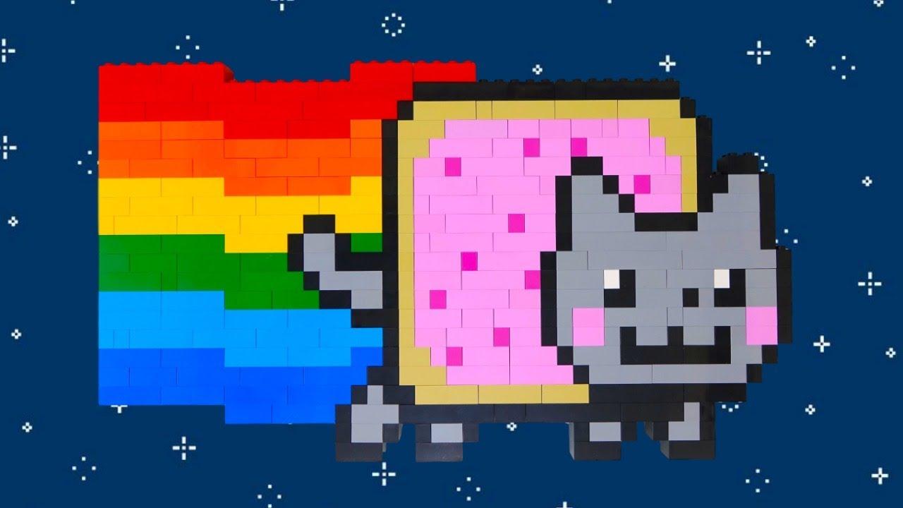 Lego Nyan Cat Rainbow Colors Speed Build Rainbow Splash Coloring Book